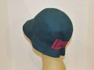 Fair Weather Green Felt Clothe Hat SM - MED NWT