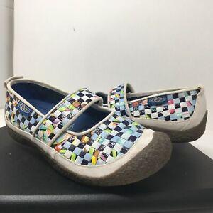 KEEN Womens 9.5 Harvest Rice Bag 5389-WRRE Woven Mary Jane Slip On Shoe Comfort
