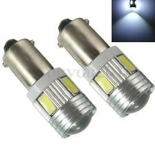 2x BA9S T4W T11 5730 LED 6-SMD Super White Side Tail Wedge Light Bulb Lamp 12V