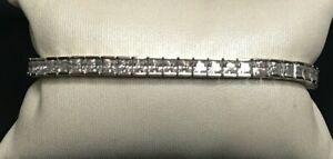 FLASHY 925 STERLING SILVER & CZ TENNIS  BRACELET