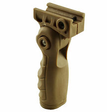 Tactical Folding Foregrip Vertical Forward Hand Grip For Picatinny Rail Tan FDE
