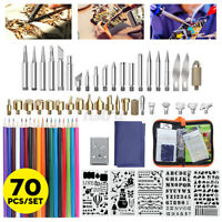 60W Electric DIY Wood Burning Pen Soldering Iron Welding Carft Pyrography Kit