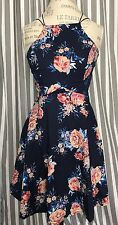 Charlotte Russe, Midnight Blue Floral Formal Dress, Size Small