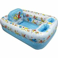 Sesame Street Inflatable Bathtub Kids Toddler Home or Travel Safety Bathing Tub