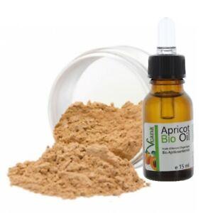 Mineral Foundation 9g + Premium BIO Aprikosenkernöl 15ml DE-Öko - 20 Farbnuancen