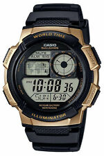 Casio Digital Men's Watch, 100M, 5 Alarms, Chronograph, Resin, AE1000W-1A3V