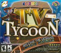 eGames TV TYCOON Television Media Sim PC Game NEW BOX