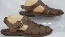 Born H18216 'Chadwick' Alce Brown Leather Closed-Toe Dress Sandal Men Size 9 M