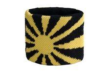 Schweißband Fahne Flagge Gelb-Schwarz 2er Set - 7x8cm Armband für Sport