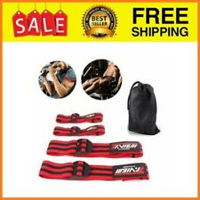 Occlusion Training Bands 4Pk Blood Flow Restriction Muscle Strap For Arms & Legs