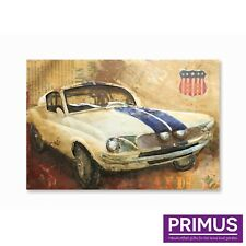 Primus American Muscle Car 3D Hand Crafted Metal Wall Art Retro Route 66 Mustang