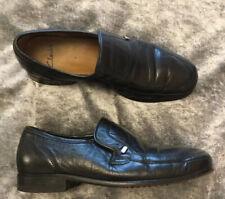 Clarks Men's Size 7 Black Leather Slip On Shoes