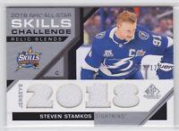 18/19 SP GAME USED...STEVEN STAMKOS...NHL ALL-STAR SKILLS RELIC BLENDS.../125