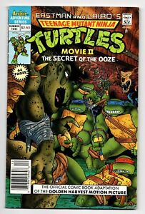 TEENAGE MUTANT NINJA TURTLES the MOVIE II SECRET OOZE ARCHIE COMICS SUMMER 1991