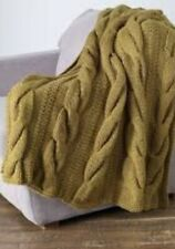 KNITTING PATTERN FOR CABLE  WARM THROW (V174)