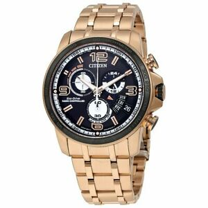 CITIZEN ECO-DRIVE BY0108-50E CHRONO-TIME ROSE GOLD STAINLESS STEEL MEN'S WATCH