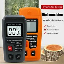 Handheld Wood Moisture Test Meter Digital Lcd Log Timber Damp Tester Detector