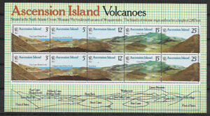 ASCENSION , 1978 , VOLCANOES , SOUVENIR SHEET PERF ,  MNH