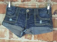 Almost Famous Distressed Denim Shorts Size 3 Womens Juniors Destroyed Jeans