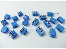 20pcs 5mm 2-Pin/3-Pin Plug-in Screw Terminal Block Connector PCB Mount s446