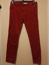 CAbi Style # 160 Red Crimson Corduroy Pants Womens Size 6 Preowned