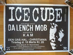 Ice Cube Da Lench Mob Kam Danish Concert Poster 1993 Rare Gangsta Rap Political