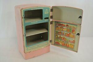 Wolverine Refrigerator Vintage Tin Toy Fridge Pink Approx. 8 x 13.5 x 5.25 USA