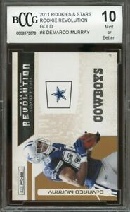 2011 rookies & stars rookie revolution gold #8 DEMARCO MURRAY rookie BGS BCCG 10