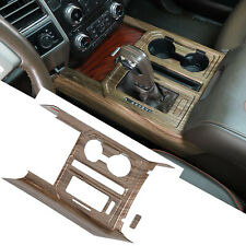 Gear Shift Panel Amp Cup Holder Cover Trim For Ford F150 2015 20 Wood Grain Parts