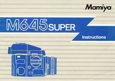 MAMIYA M645 SUPER 6x4.5cm CAMERA OWNERS INSTRUCTION MANUAL -MAMIYA