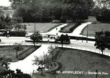 More details for 1930s rp photo postcard anderlecht belgium park parc entree tram bus