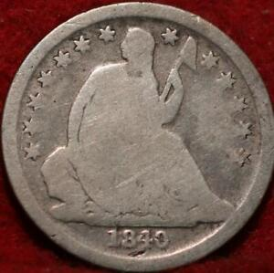 1840-O New Orleans Mint Silver Seated Liberty Dime
