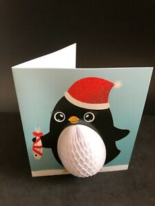 Home Decor Penguin  Christmas Cards With Paper Decoupage
