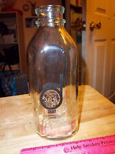 Glass Milk Bottle, D Dutchman Dairy Sicamous British Columbia Canada, NICE