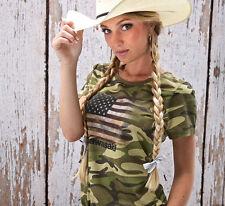 Kawasaki Women's Army Camo s/s T-Shirt - Size Medium - Brand New