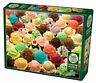 """Cobble hill """"Colorful Ice Cream"""" 1000 pc Jigsaw Puzzle Food Dessert"""
