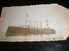 Old photograph British navy war ship HMS Terrible c1890s