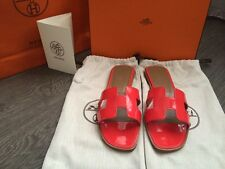 BNIB Auth Hermes Oran Sandals Orange/Coral Sz 38