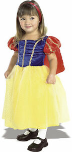 FANCY DRESS COSTUME GIRLS SNOW WHITE MED AGE 5-7
