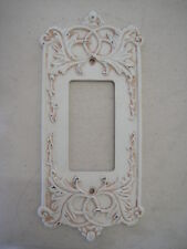 DImmer Switch Plate Set of 4 Antique White Fleur