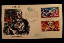 MONACO PREMIER JOUR FDC YVERT 759+762      CHATEAUBRIAND      0,20+0,60F    1968