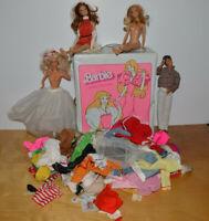 Vintage BARBIE Fashion Doll Trunk Lot KEN Clothes Accessories Vintage & Modern