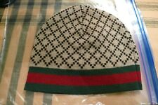 GUCCI BROWN DIAMANTE BEANIE HAT