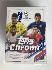 2020/21 TOPPS UEFA CHAMPIONS LEAGUE CHROME SOCCER BLASTER BOX