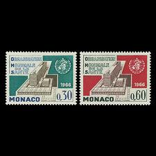 Monaco 1966 - Inauguration of WHO Headquarters Geneva UN - Sc 645/6 MNH