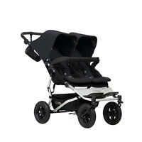 Poussette double Mountain Buggy Duet v3 Black - 2017 - garantie 3 ans
