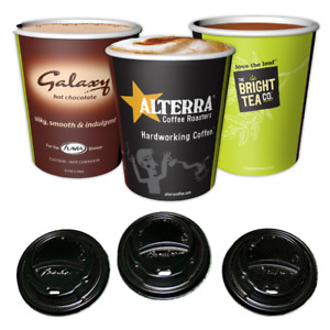 Flavia 9oz Paper Cups with Sip Through lids (1000) -  For Flavia Coffee Machines