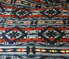 Polo Ralph Lauren RRL 100% Cotton Aztec Print Large Throw Blanket Made In USA