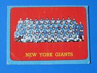 1963 TOPPS NY GIANTS TEAM FOOTBALL CARD #60 ~ VG
