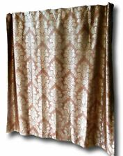 Luxury Fabric Shower Curtain Damask Jacquard Shabby Chic High Quality Brown/Gold